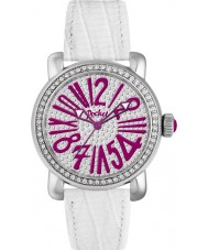 Pocket PK2028 Ladies Rond Pave Medio Silver White Watch