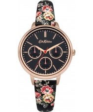 Cath Kidston CKL003BRG Ladies Kingswood Rose Black PU Leather with Floral Print Watch