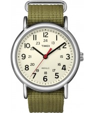 Timex T2N651 Mens Natural Olive Weekender Slip Through Watch
