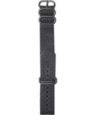 Elliot Brown STR-N02 Mens Canford-Bloxworth Black Nylon Strap