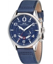 AVI-8 AV-4031-04 Mens Hawker Harrier II Blue Leather Strap Chronograph Watch