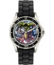 Disney AVG3529 Marvel Boys Watch with Black Silicone Strap