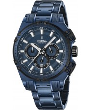 Festina F16973-1 Mens Chrono Bike Blue Steel Chronograph Watch