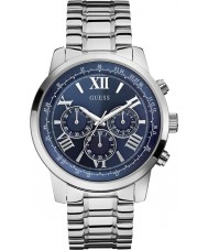 Guess W0379G3 Mens Horizon Silver Steel Chronograph Watch