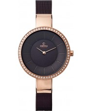 Obaku V179LEVNMN Ladies Brown Steel Mesh Bracelet Watch