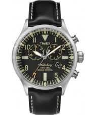 Timex TW2P64900 Mens Heritage Black Leather Strap Waterbury Watch