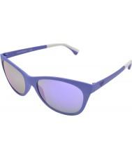 Emporio Armani EA4046 56 Essential Leisure Matte Violet Sunglasses