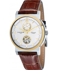 Thomas Earnshaw ES-8012-07 Mens Round Providence Brown Croco Leather Strap Watch