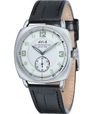 AVI-8 AV-4033-01 Mens Supermarine Seafire Black Alligator Pattern Leather Strap Watch