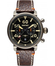 Dogfight DF0009 Mens Ace Brown Leather Chronograph Watch