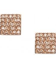 Fossil JF01831791 Ladies Vintage Glitz Rose Gold Square Stud Earrings