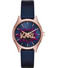 Karl Lagerfeld KL1631 Ladies Belleville Blue Leather Strap Watch