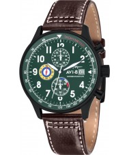 AVI-8 AV-4011-05 Mens Hawker Hurricane Brown Leather Strap Chronograph Watch