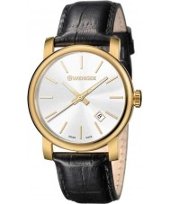 Wenger 01-1041-119 Mens Urban Vintage Black Leather Strap Watch