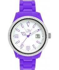 LTD Watch LTD-111002 White Purple Plastic Watch