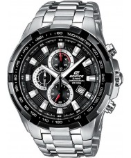 Casio EF-539D-1AVEF Mens Edifice Black Silver Chronograph Watch