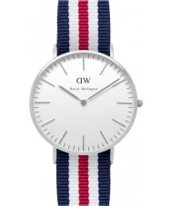 Daniel Wellington DW00100051 Ladies Classic Canterbury 36mm Silver Watch