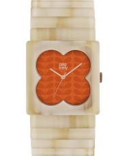 Orla Kiely OK4009 Ladies Lucy Matte Orange Pale Horn Expander Strap Watch
