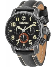 Timberland 14439JSQ-02 Mens Mascoma Black Leather Strap Watch