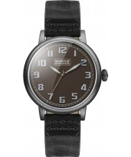 Barbour BB042BKBK Mens Hawkins Black Leather Strap Watch