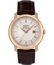 Rotary GS90093-06 Mens Les Originales Brown Leather Watch