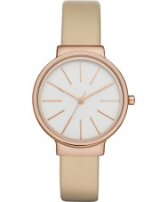 Skagen SKW2481 Ladies Ancher Oatmeal Leather Strap Watch
