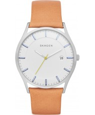 Skagen SKW6282 Mens Holst Light Brown Leather Strap Watch