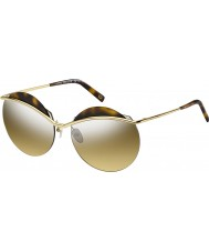 Marc Jacobs Ladies MARC 102-S J5G GG Gold Silver Mirror Sunglasses