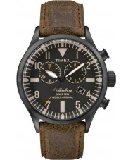 Timex TW2P64800 Mens Waterbury Brown Leather Chronograph Watch