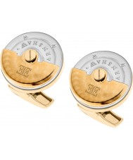 Thomas Earnshaw ES-003-C5 Mens Rotor Two Tone Gold Plated Cufflinks