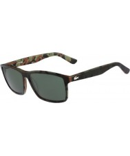 Lacoste Mens L705SP Military Green Camouflage Polarized Sunglasses