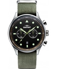 Dogfight DF0025 Mens Ace Green Fabric Chronograph Watch