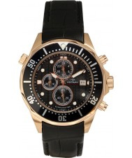 Rotary AGS00070-C-04 Mens Aquaspeed Rose Gold Black Chronograph Watch