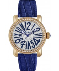Pocket PK2030 Ladies Rond Pave Medio Blue Watch
