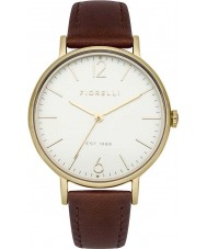 Fiorelli FO005TG Ladies Gold Plated Tan Leather Strap Watch