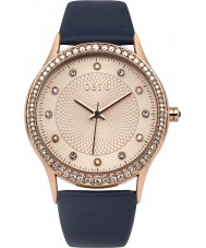 Oasis B1533 Ladies Navy Leather Strap Watch
