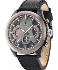 Police 14639JSBU-02 Mens Cyclone Black Leather Strap Watch