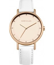 Karen Millen KM139WRG Ladies White Leather Strap Watch