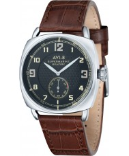 AVI-8 AV-4033-02 Mens Supermarine Seafire Choco Brown Alligator Pattern Leather Strap Watch