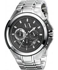 Armani Exchange AX1039 Mens Black Silver Chronograph Sports Watch