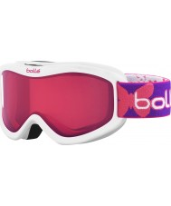 Bolle 21513 Volt White Butterfly - Vermillon Ski Goggles - 6 plus Years