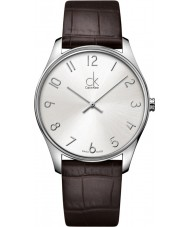 Calvin Klein K4D211G6 Mens Classic Silver Brown Watch