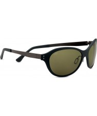 Serengeti Giustina Satin Black Polarized PhD 555nm Sunglasses
