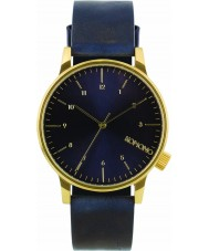 Komono KOM-W2251 Winston Regal Blue Leather Strap Watch