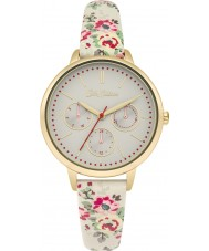 Cath Kidston CKL003WG Ladies Kingswood Rose White PU Leather with Floral Prints Watch