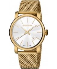 Wenger 01-1041-120 Mens Urban Vintage Gold Plated Mesh Bracelet Watch