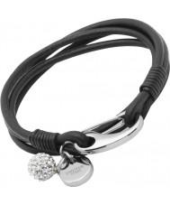 Chriselli Unique Ladies Black Leather Bracelet