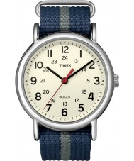 Timex Originals T2N654 Mens Blue Grey Weekender Slip Through Watch