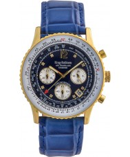 Krug-Baumen 400207DS Air Traveller Diamond Blue Dial Blue Strap