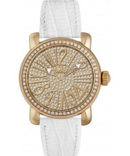 Pocket PK2032 Ladies Rond Pave Medio Gold White Watch